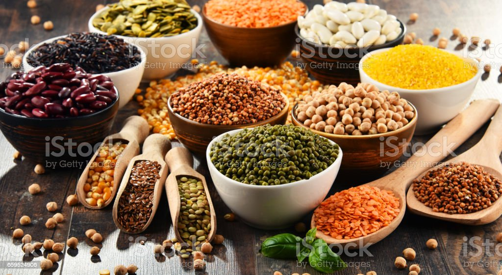 Composition with variety of vegetarian food ingredients - Royalty-free Alimentação Saudável Foto de stock