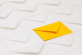istock Composition with white envelopes 669621692