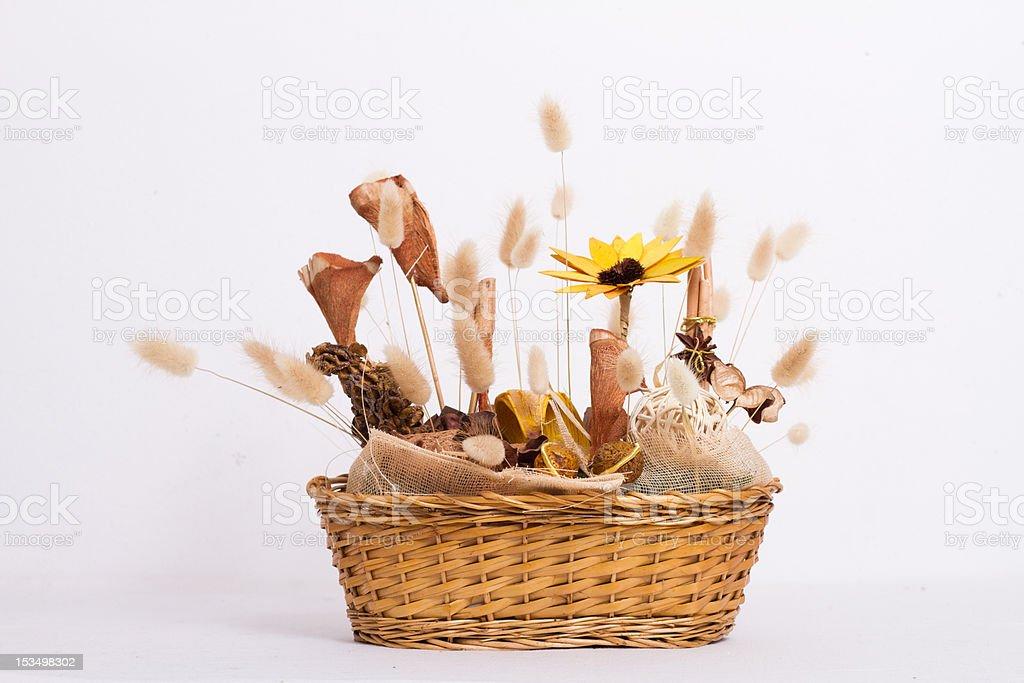 Composizioni Fiori Secchi.Composizione Fiori Secchi Floral Arrangement Stock Photo