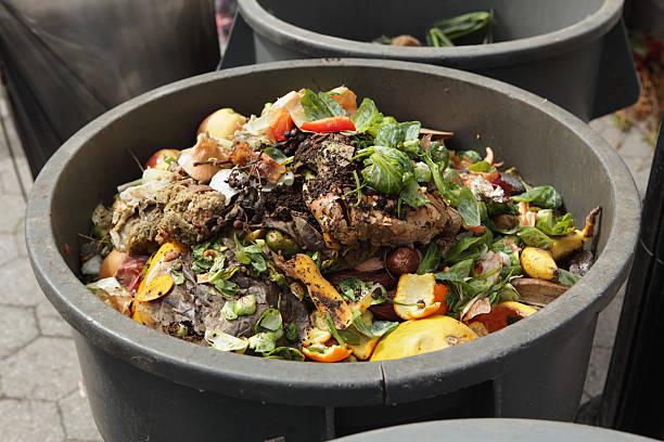 Kompost bin in einem urbanen Sie die station – Foto
