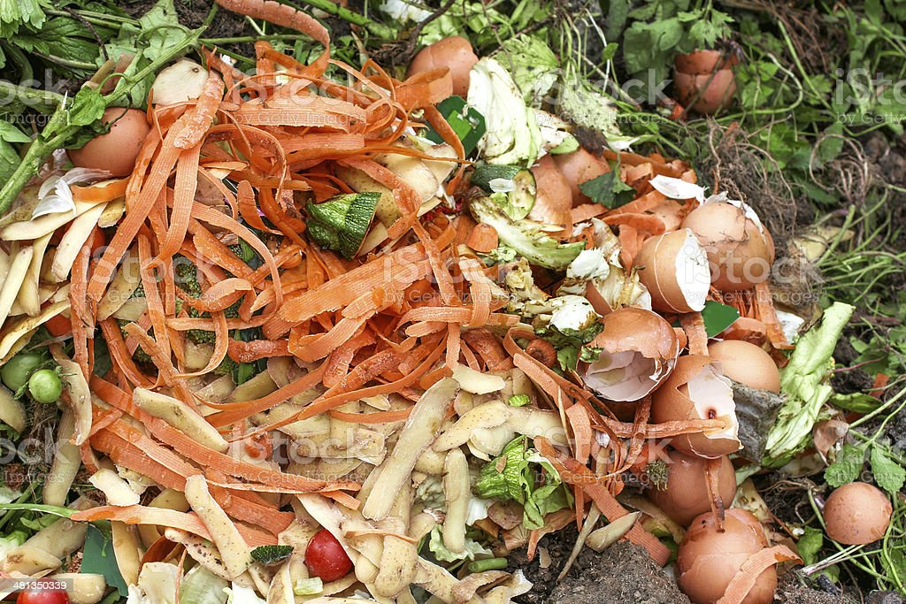 Compost for composted earth stock photo