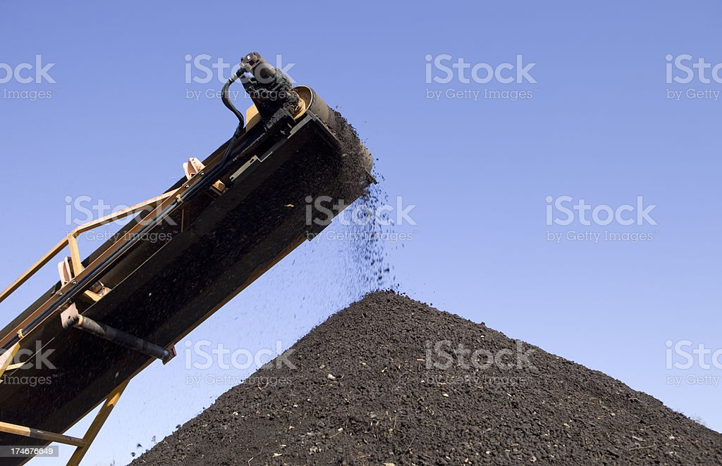 Compost Processing royalty-free stock photo