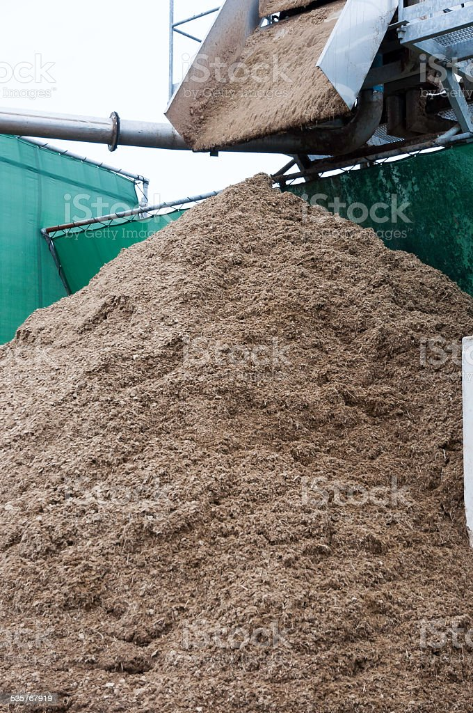 Compost Processing stock photo