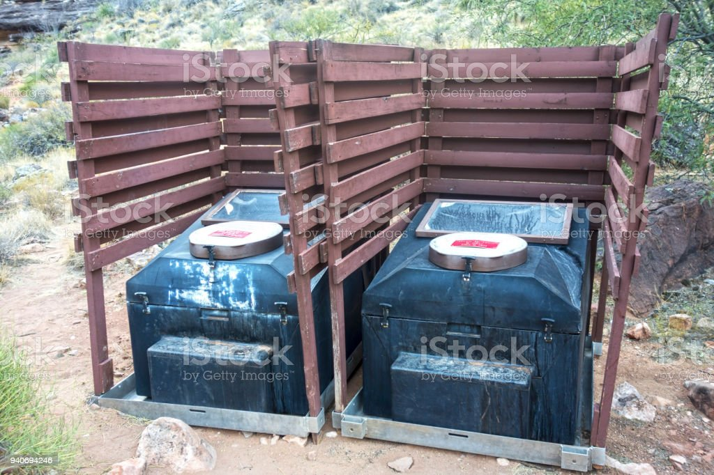 Camping Composting Toilet : Composting outdoor toilet grand canyon arizona camping stock photo