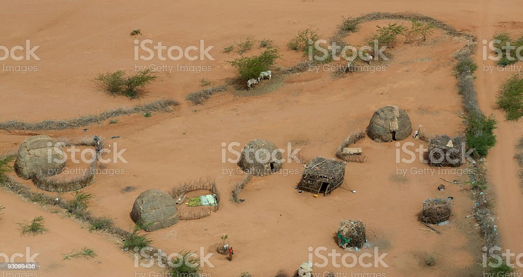 Compound in Africa royalty-free stock photo