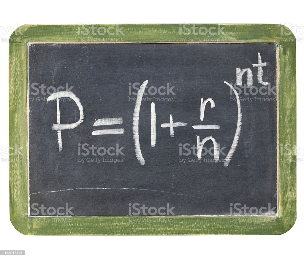 compound interest equation royalty-free stock photo