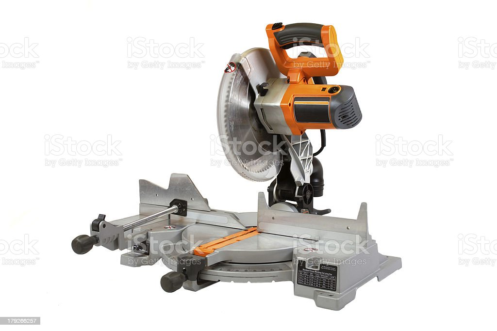 Compound Miter Saw stock photo