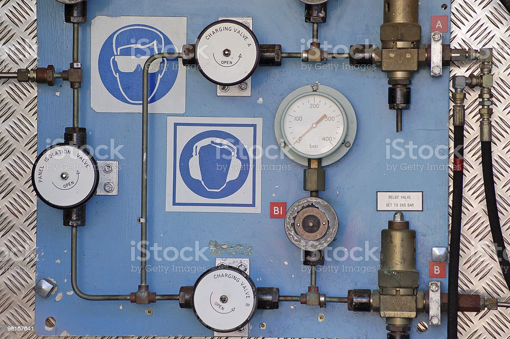 Compressed air equipment royalty-free stock photo