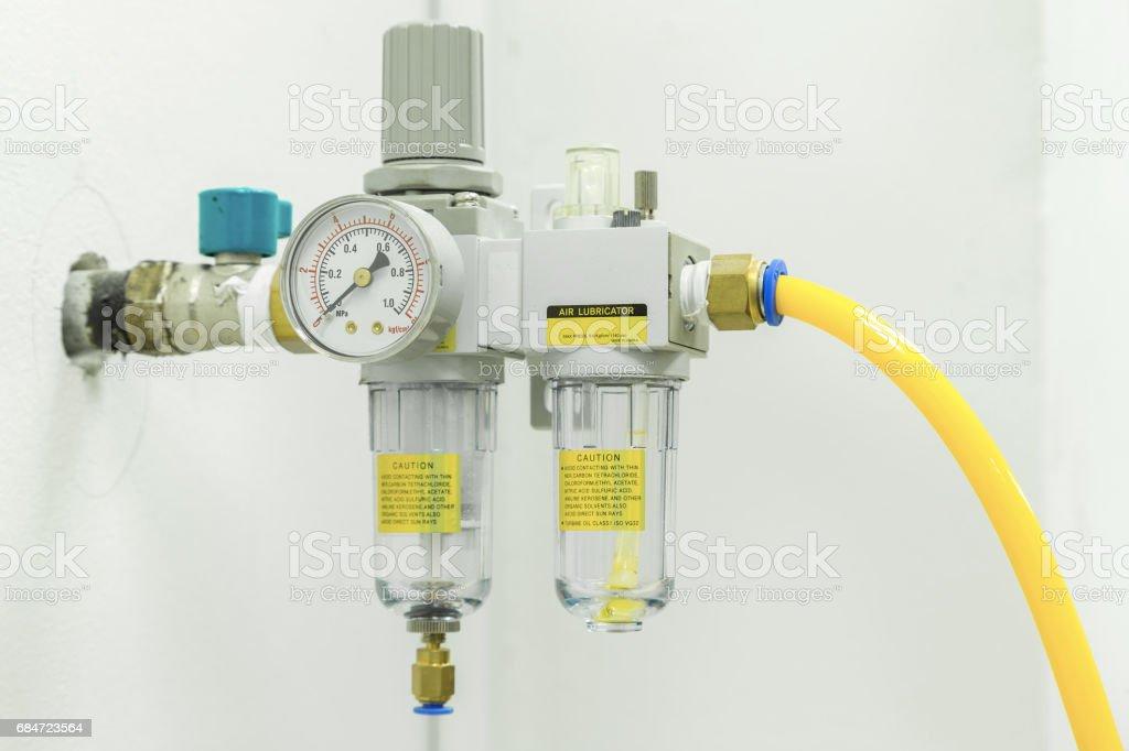 Compressed Air Filter Regulator Lubricator. stock photo