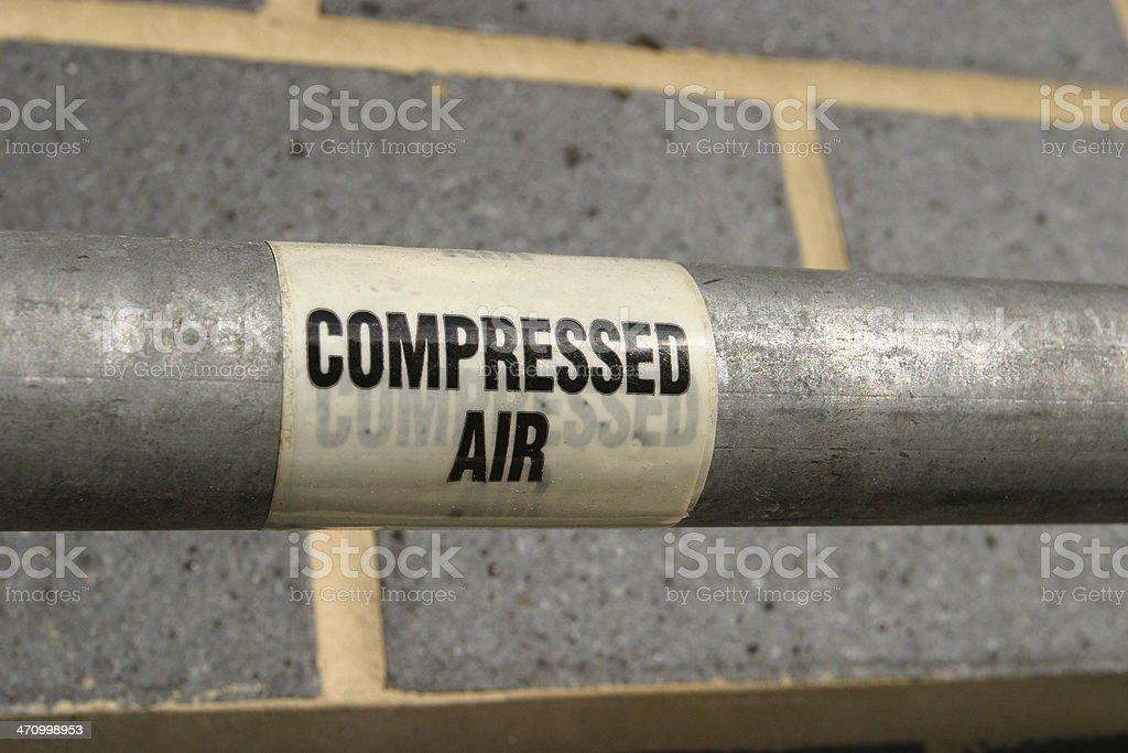 Compressed Air Pipe royalty-free stock photo