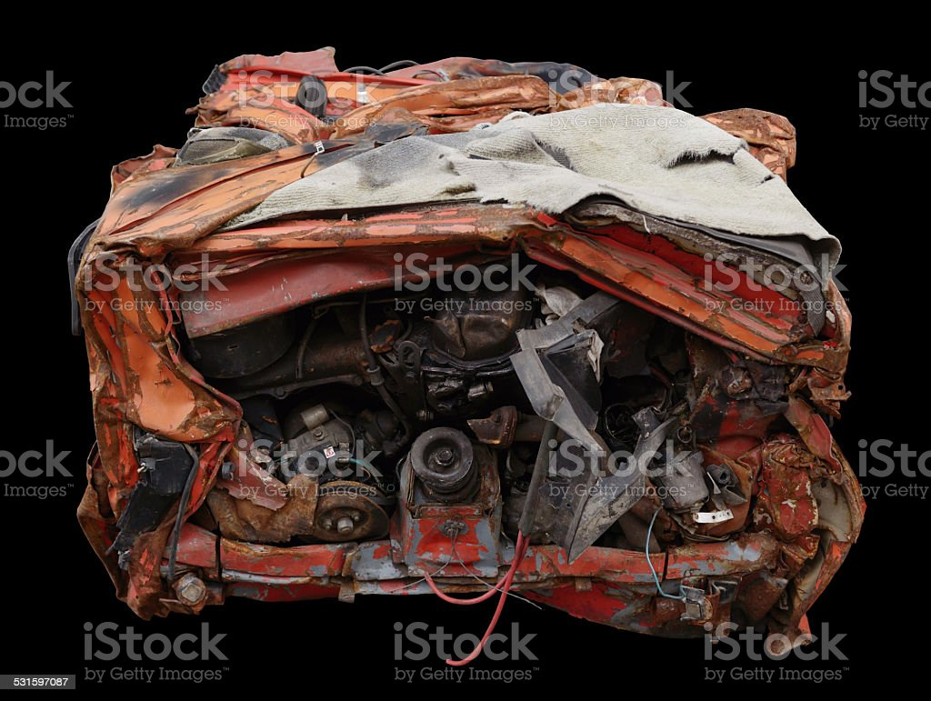 compressed car stock photo