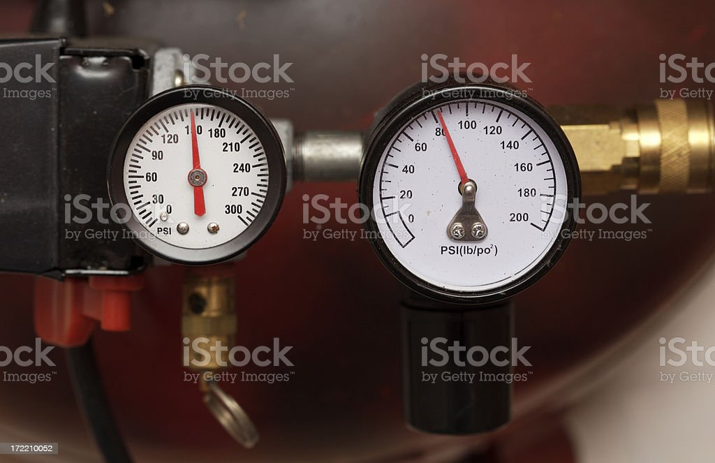 Compressor gauges royalty-free stock photo