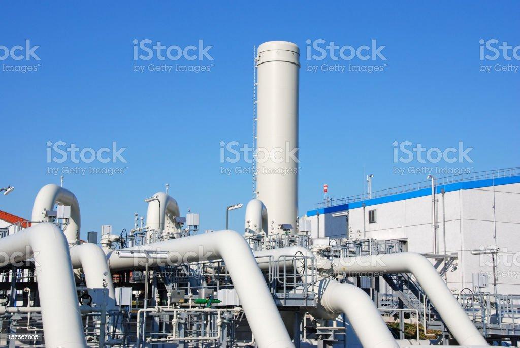 Compressor station royalty-free stock photo