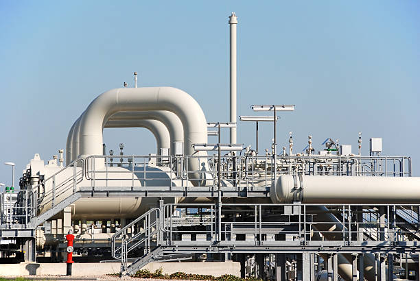 Compressor station Compressor station compressor stock pictures, royalty-free photos & images