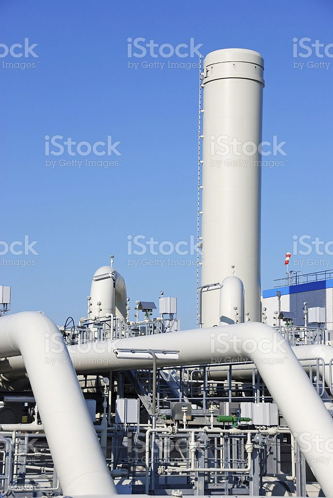 Compressor station royalty-free stock photo