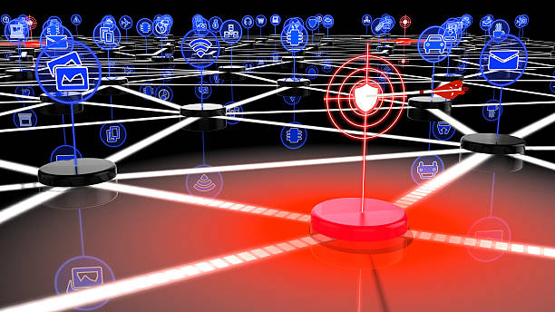 Compromised IOT network stock photo