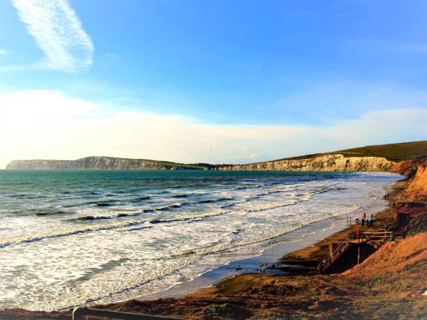 Compton bay, Isle of Wight, UK. stock photo