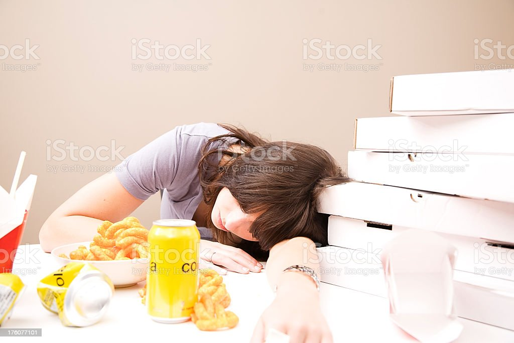 Compulsive Eating stock photo