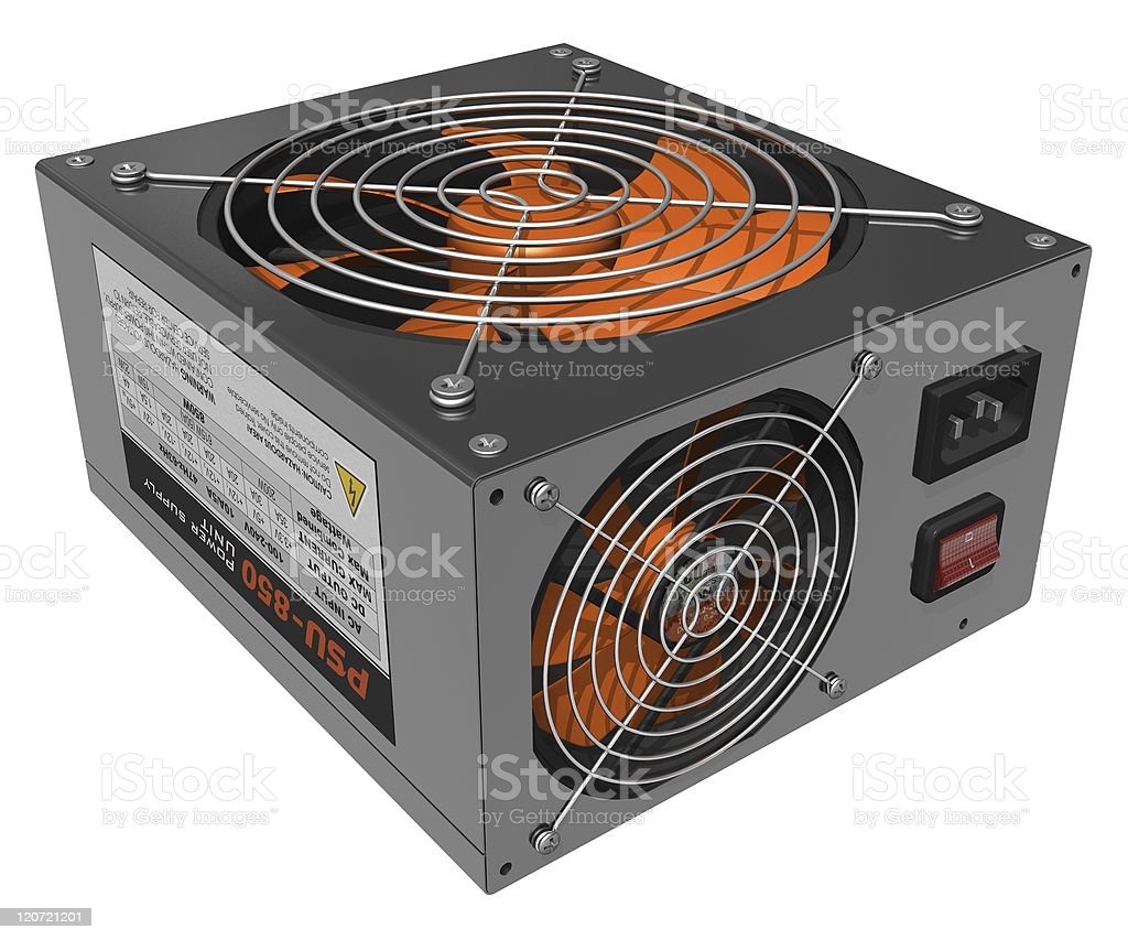 Computer AC power supply unit stock photo