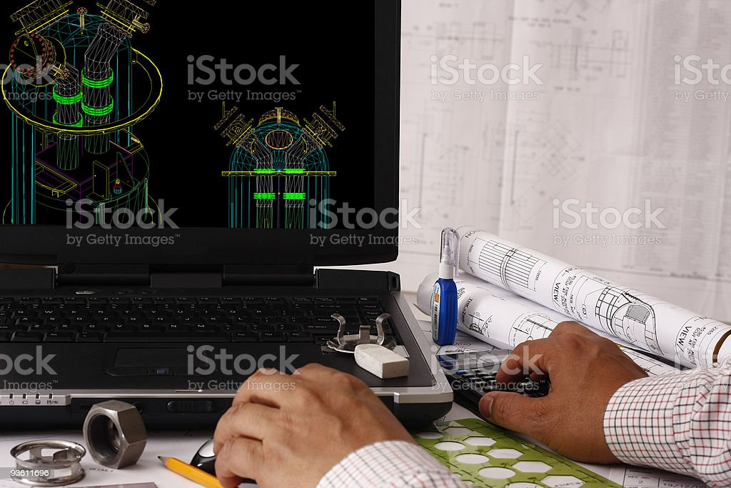 Computer Aided Design of Vessel Tower royalty-free stock photo