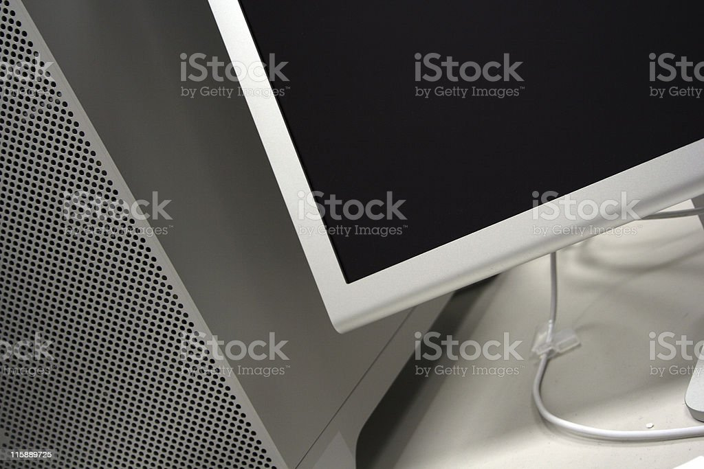 computer and LCD screen royalty-free stock photo