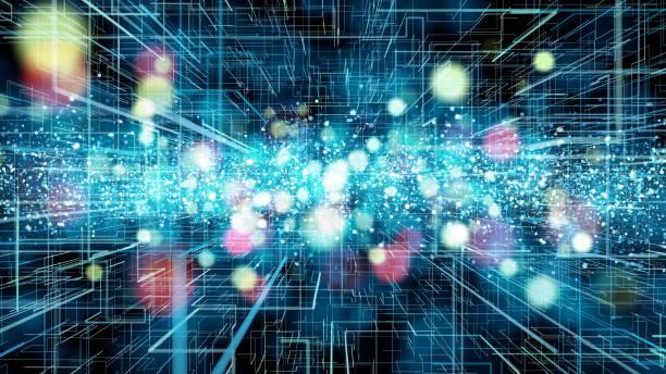 コンピューターとネットワークの概念。 ストックフォト