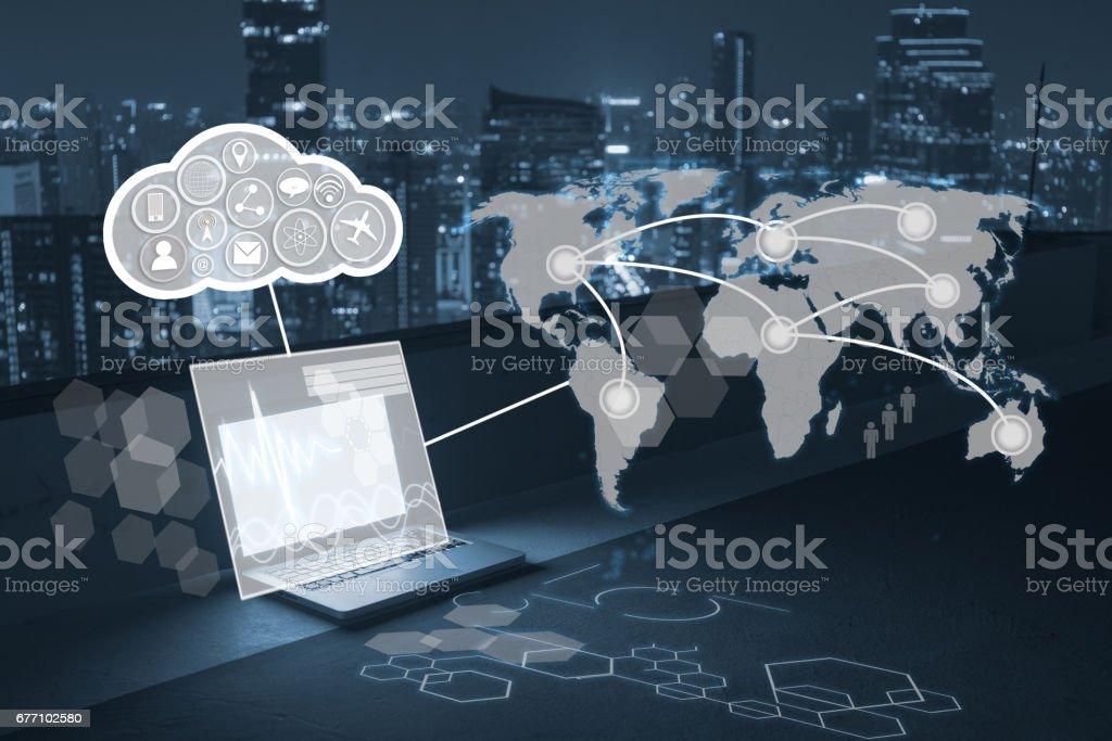 computer and technology concept stock photo