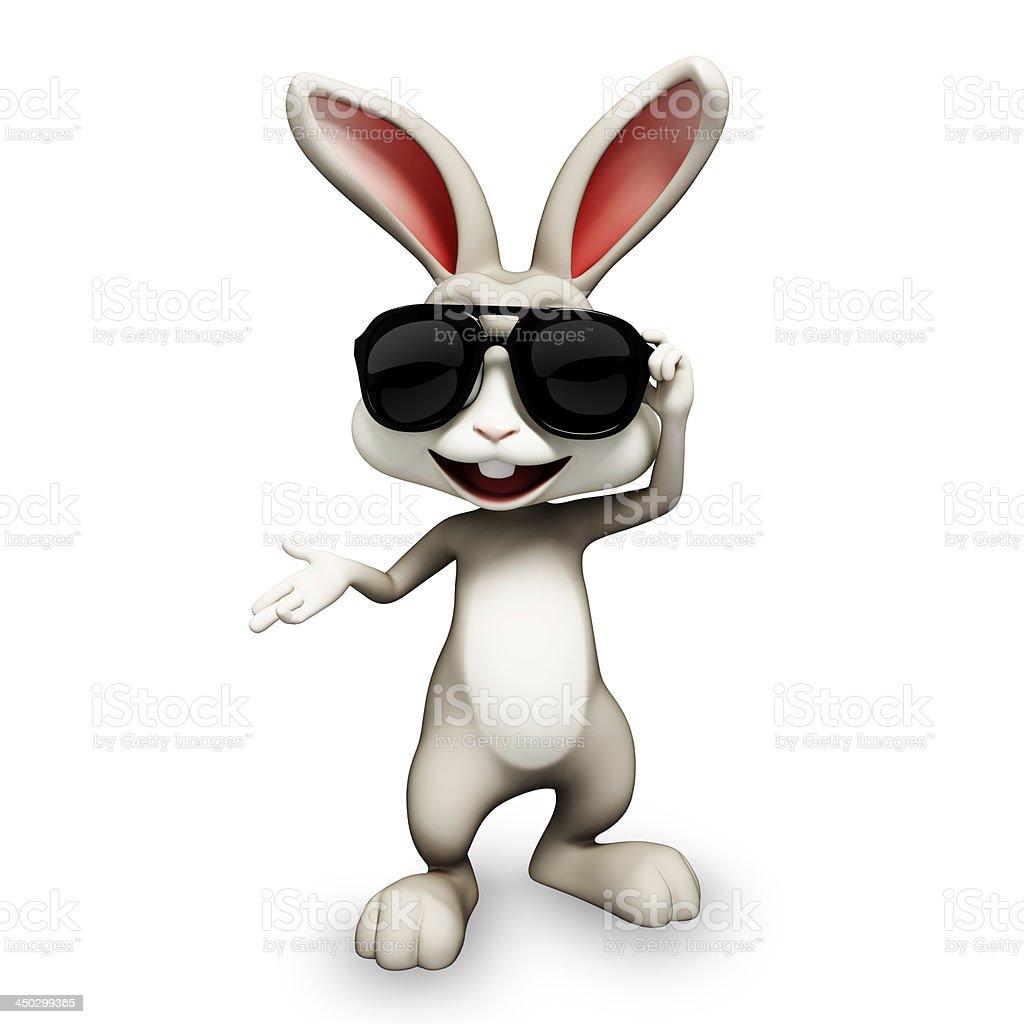 Computer Animated Bunny Rabbit Wearing Sunglasses Stock ...
