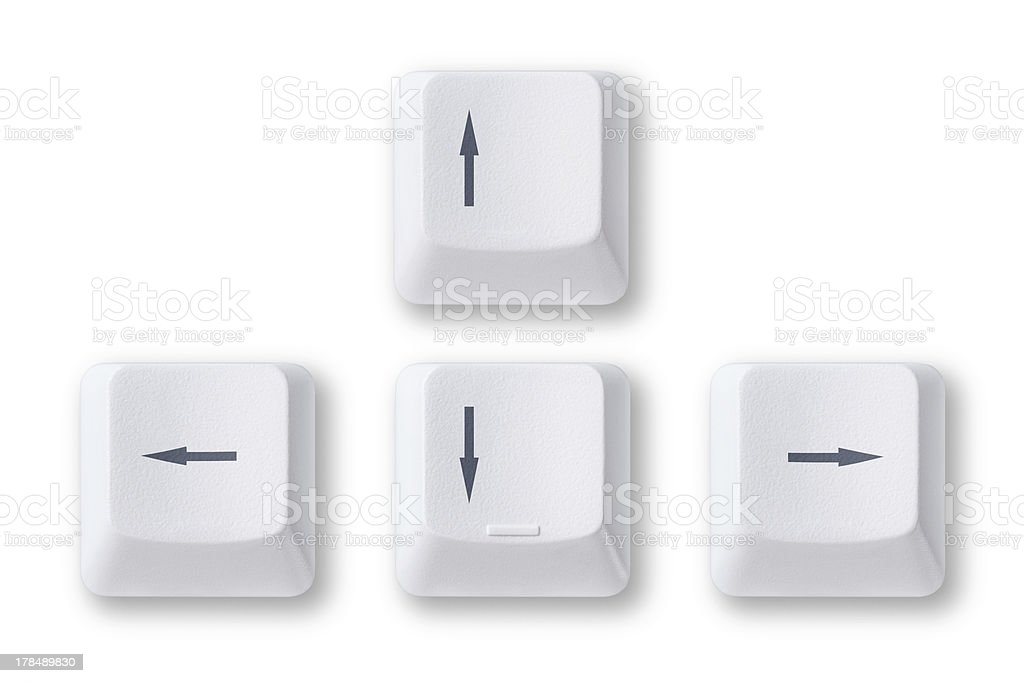 Computer arrow keys stock photo