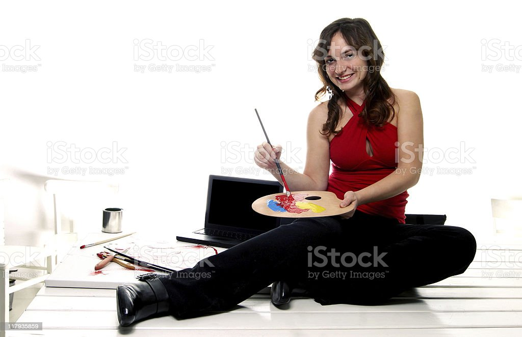 Computer Arts Portraits royalty-free stock photo