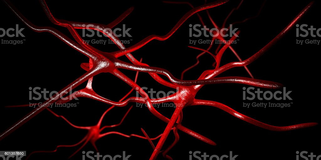 Computer artwork of nerve cells stock photo