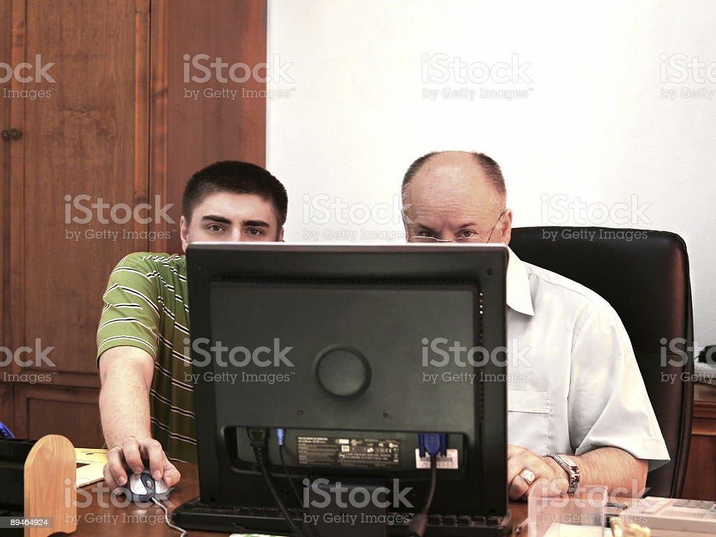 Computer assistance 免版稅 stock photo