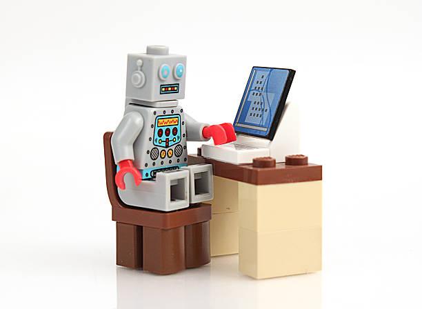 Computer at Work stock photo