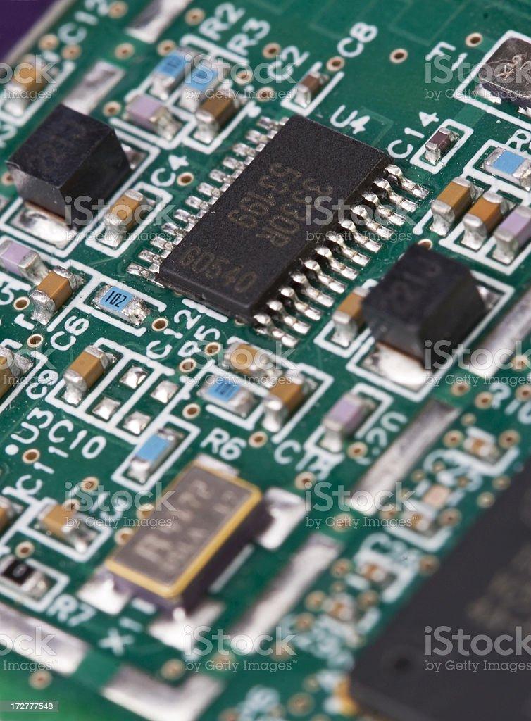 Computer Board Close-up royalty-free stock photo