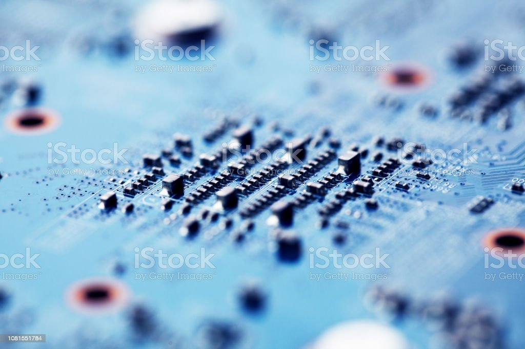 Computer board, macro shoot stock photo