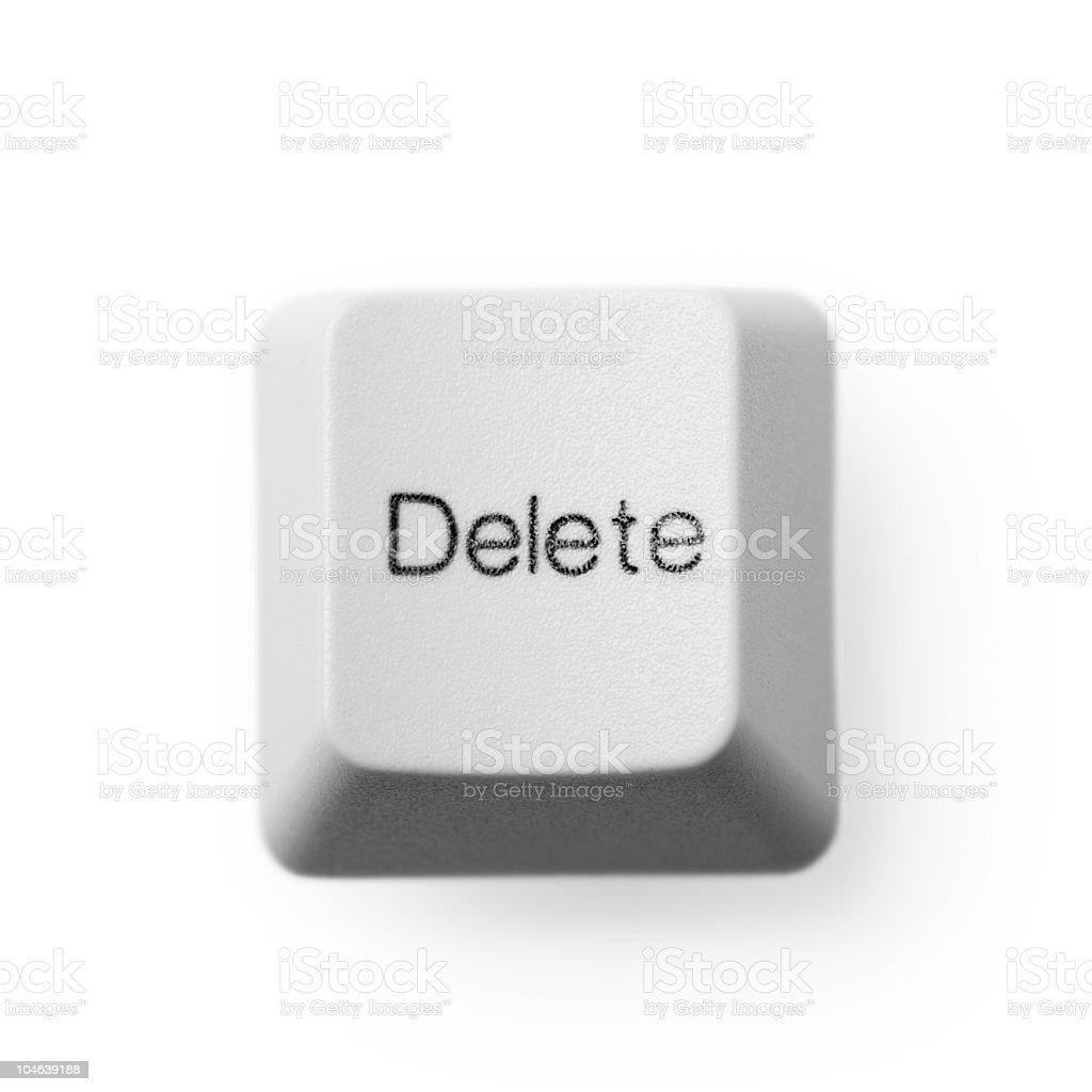 Computer button - delete stock photo