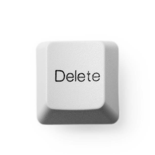 computer button - delete - delete key stock photos and pictures
