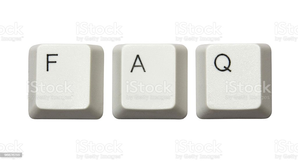 Computer buttons FAQ royalty-free stock photo