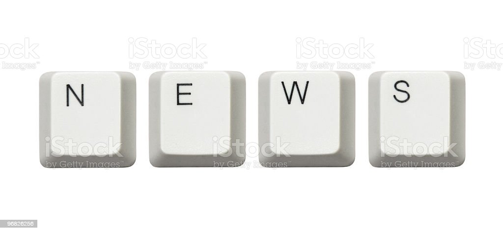 Computer buttons News royalty-free stock photo