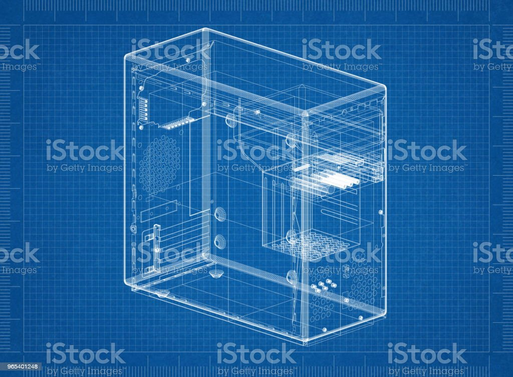 Plan d'architecte affaire ordinateur - Photo de Architecte libre de droits