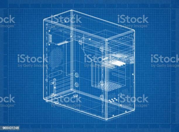 Foto de Projeto De Arquiteto Caso Computador e mais fotos de stock de Arquiteto
