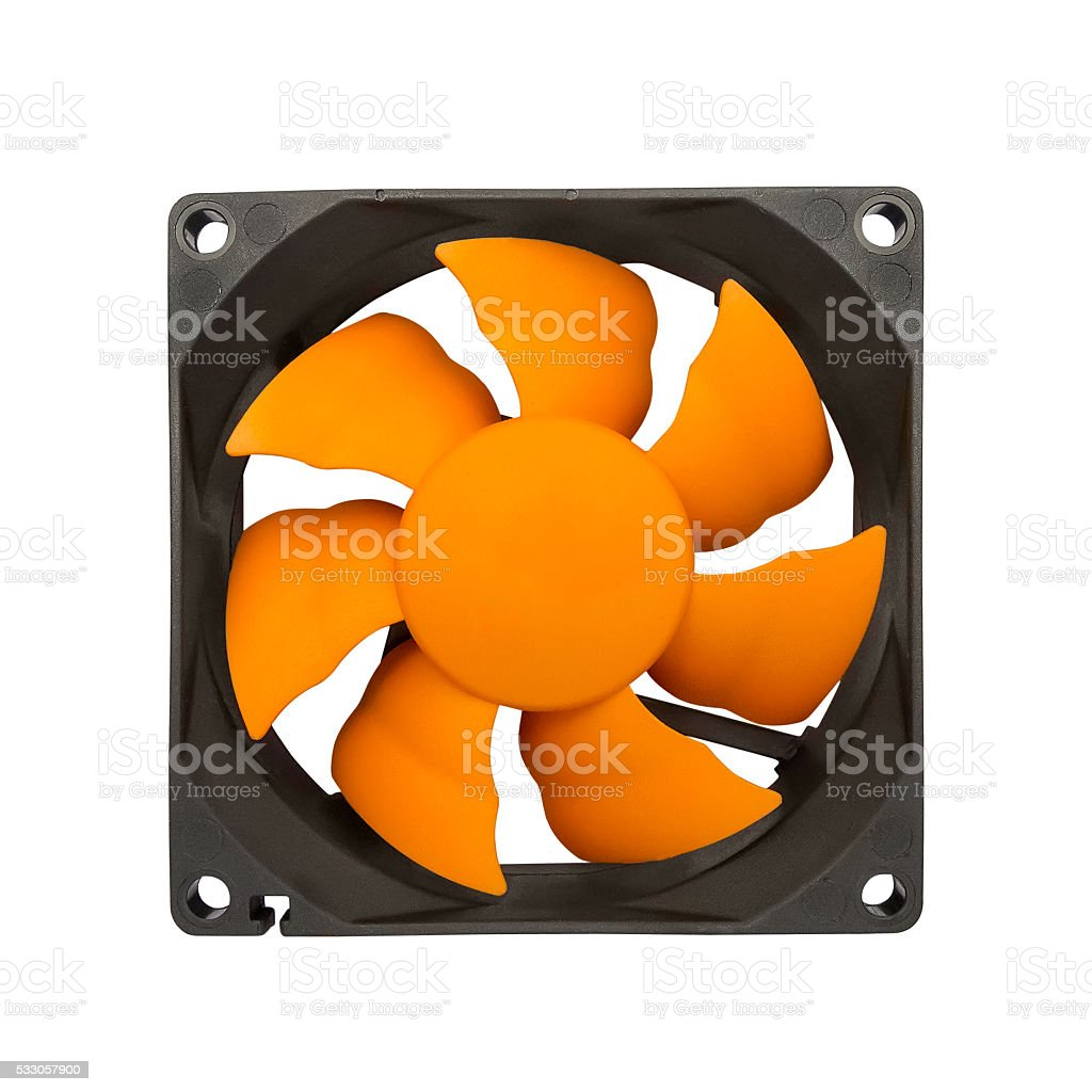 Computer case fan stock photo