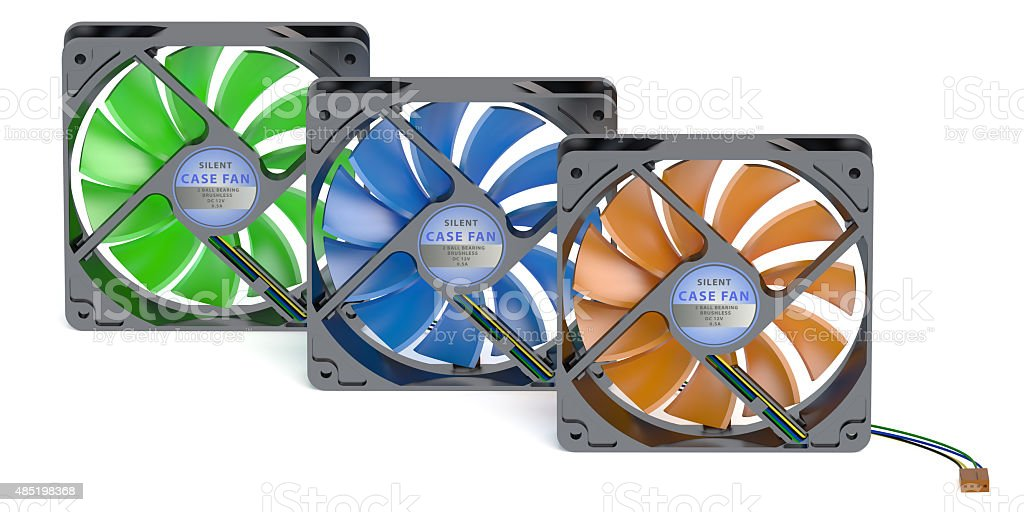 computer case fans stock photo