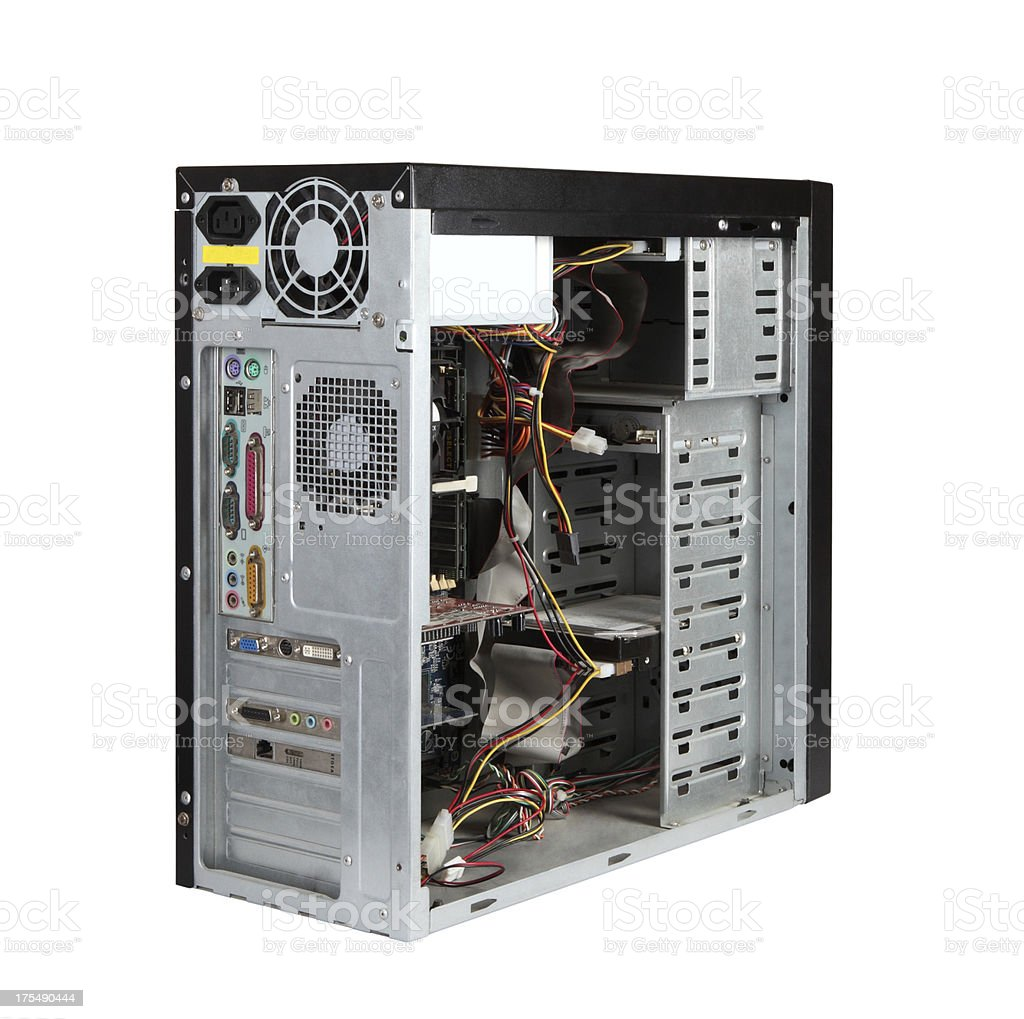 Computer Case+Clipping Path (Click for more) stock photo