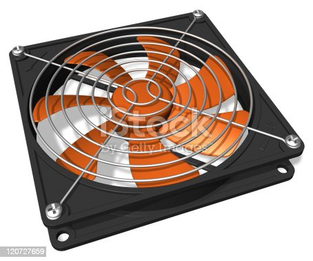 istock Computer chassis/CPU cooler 120727659