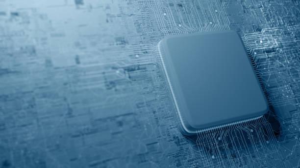 Computer-Chip und CPU-Konzept – Foto