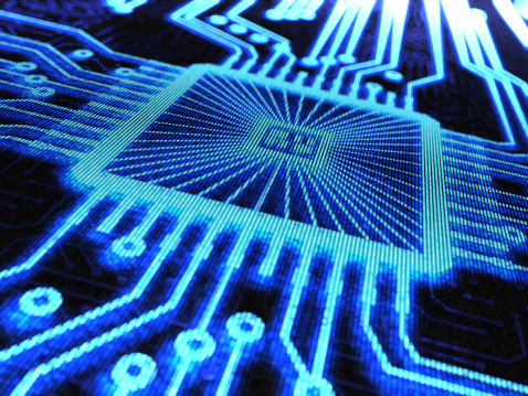 Computer Chip Background Stock Photo - Download Image Now
