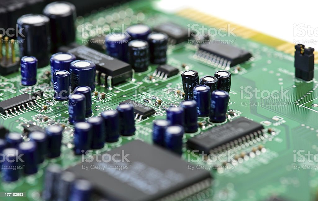 Computer chip bourd royalty-free stock photo