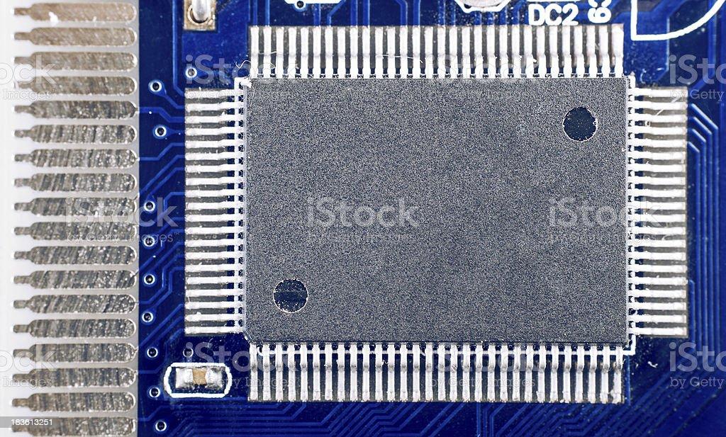 Computer chip closeup photo royalty-free stock photo