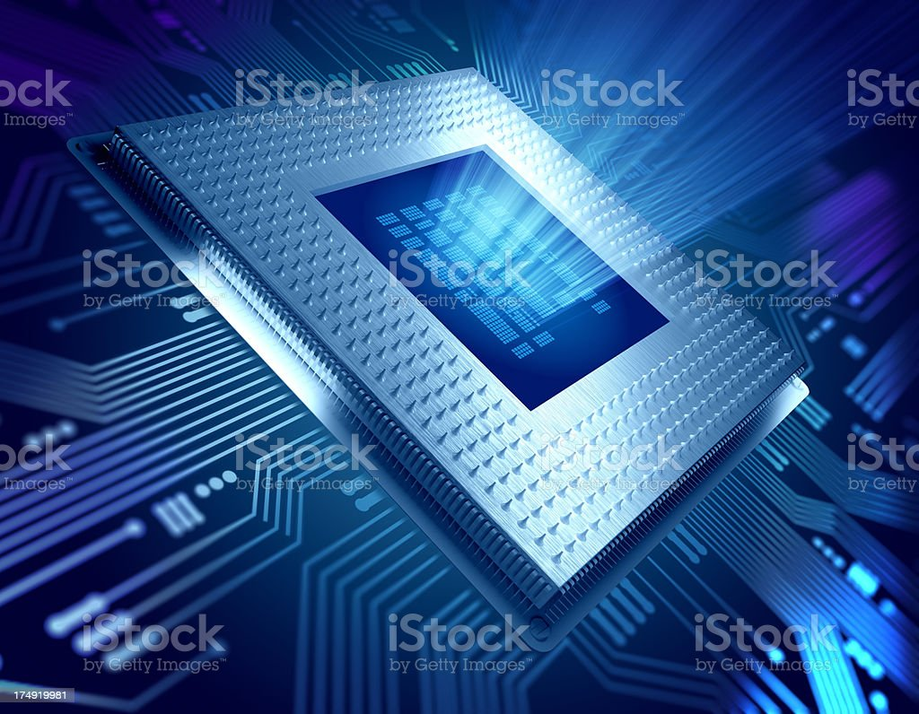 Computer chip / CPU concept stock photo